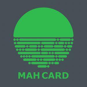 MahCard Logo - Grey