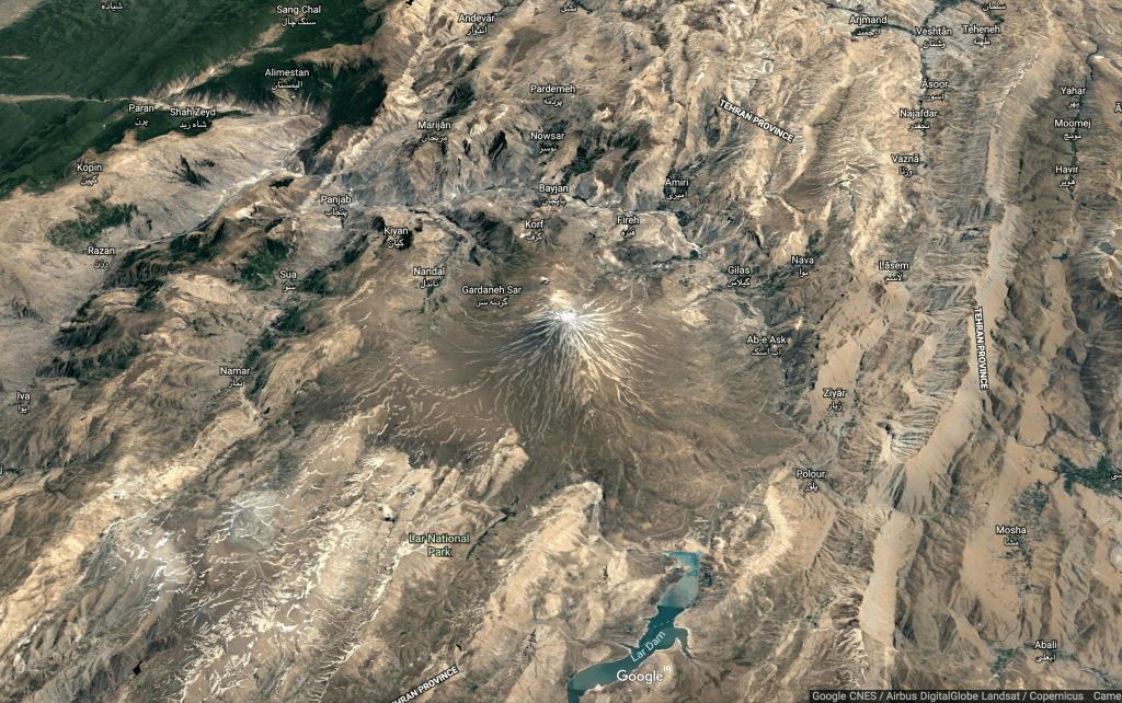 Damavand Peak- Birdview