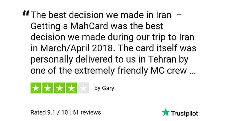 MahCard - TrustPilot Review